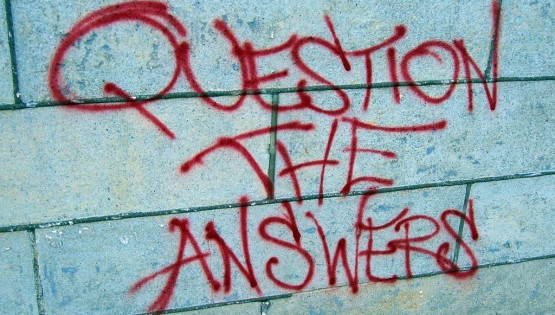 """Question the Answers"" (CC BY 2.0) by walknboston"